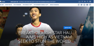 Trang chủ FIFA: 'Văn Hậu và Việt Nam tìm cách gây choáng váng thế giới'