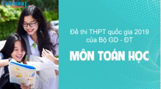 Đề thi môn Toán kỳ thi THPT Quốc Gia 2020 của Bộ GD-ĐT (bộ 24 mã đề)