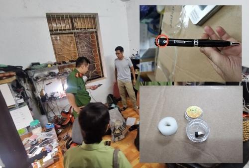 Hà Nội triệt phá 'lò' thiết bị công nghệ cao phục vụ gian lận thi cử
