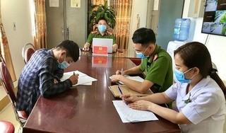 Hà Tĩnh xử phạt một nam thanh niên tự ý rời khỏi nhà khi đang cách ly