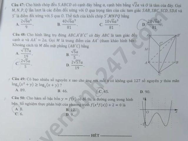 mã đề 103 môn toán 5