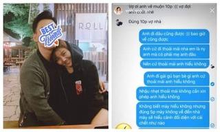 Công khai tin nhắn 'dằn mặt' người yêu, Văn Mai Hương khiến dân mạng phì cười
