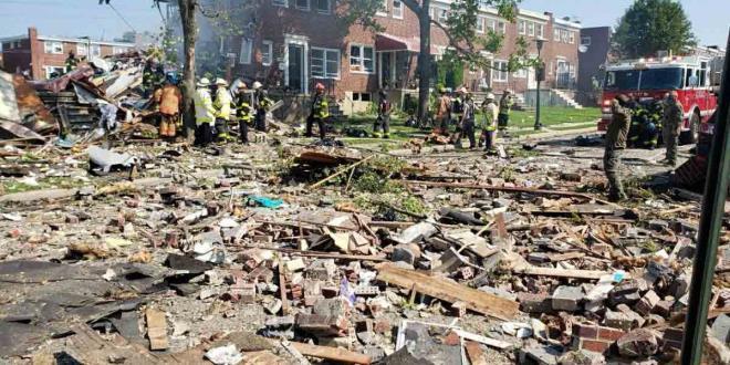 Nổ lớn ở Mỹ nhiều ngôi nhà bị san phẳng