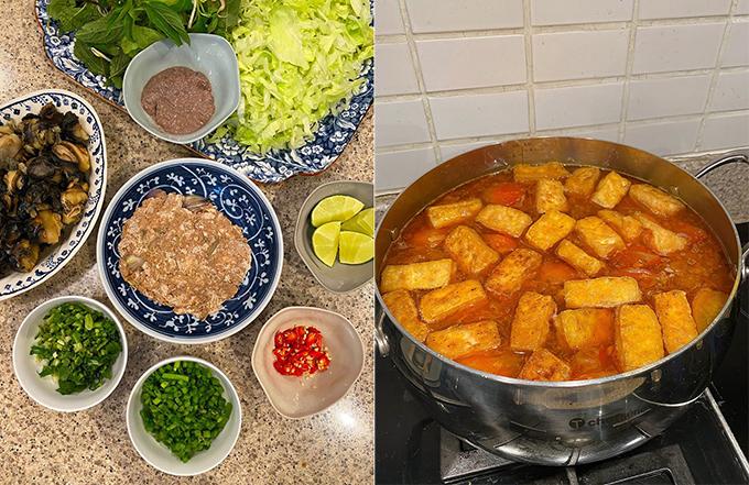 Hà Tăng khoe bữa cơm thịnh soạn, tiết lộ niềm vui đơn giản trong cuộc sống hôn nhân