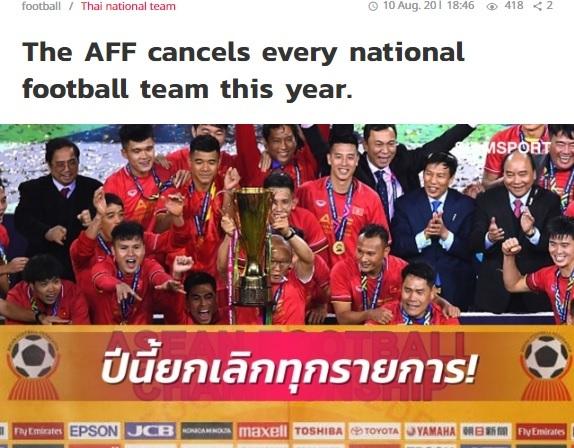 Liên đoàn bóng đá Đông Nam Á hoãn tất cả các giải đấu khu vực