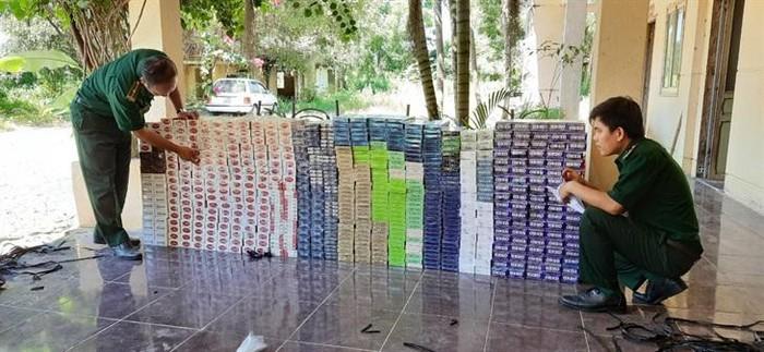 Tây Ninh thu giữ hơn 6000 gói thuốc lá nhập lậu từ Campuchia