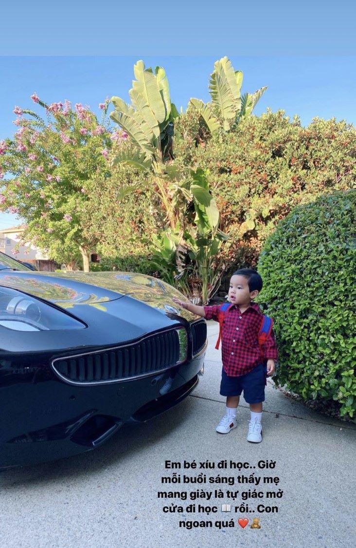 Giữa tình hình dịch bệnh tại Mỹ, Phạm Hương gây xôn xao khi cho con trai đi học mẫu giáo
