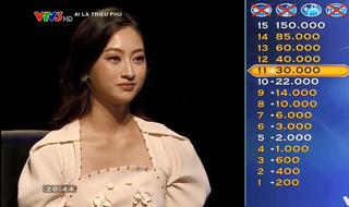 Hoa hậu Lương Thùy Linh mất tấm séc 30 triệu ở 'Ai là triệu phú' chỉ vì món sắn luộc