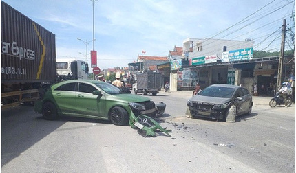 Truy tìm xe ben tông ô tô Mercedes gây tai nạn liên hoàn rồi bỏ chạy