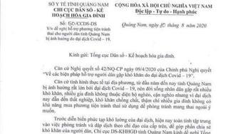 Quảng Nam thu hồi công văn xin phương tiện tránh thai giữa mùa dịch