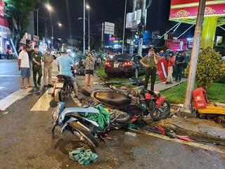 Chỉ đạo điều tra, xử lý nghiêm vụ nữ tài xế Camry tông hàng loạt xe máy