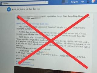 Xử phạt người bịa đặt các bài thuốc chống Covid-19 trên Facebook