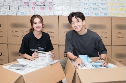 Ninh Dương Lan Ngọc và Ngô Kiến Huy ủng hộ Đà Nẵng 250.000 chiếc khẩu trang
