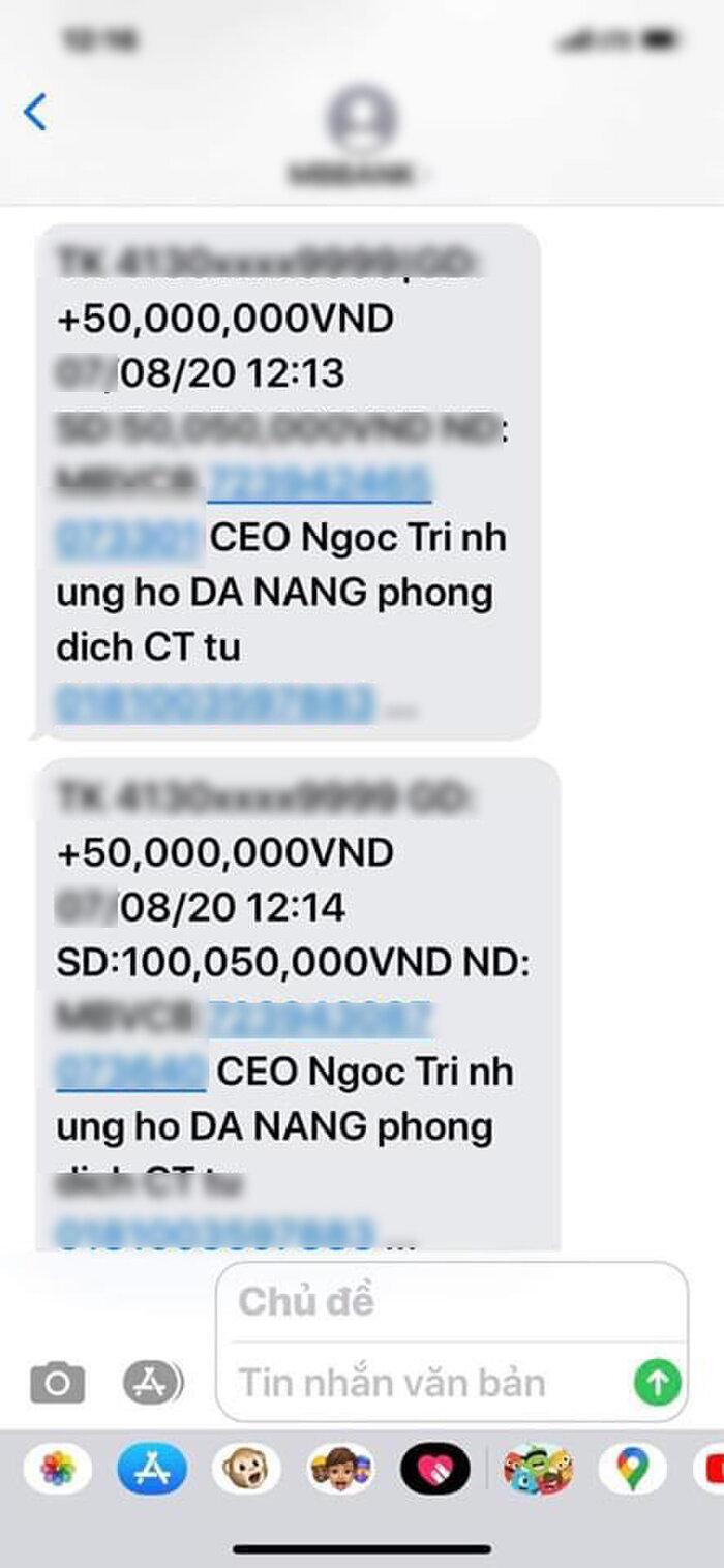 Ngọc Trinh ủng hộ 100 triệu đồng giúp Đà Nẵng chống dịch Covid-19