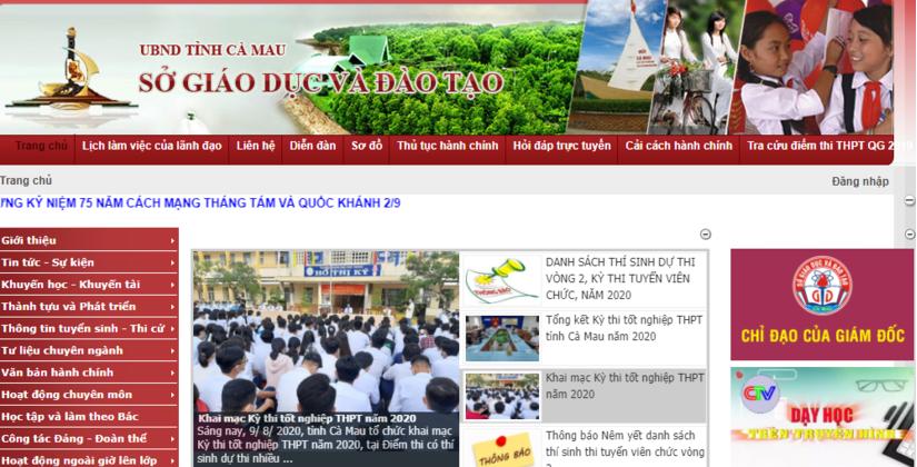 Tra cứu điểm thi THPT quốc gia 2020 tỉnh Cà Mau ở đâu nhanh nhất?