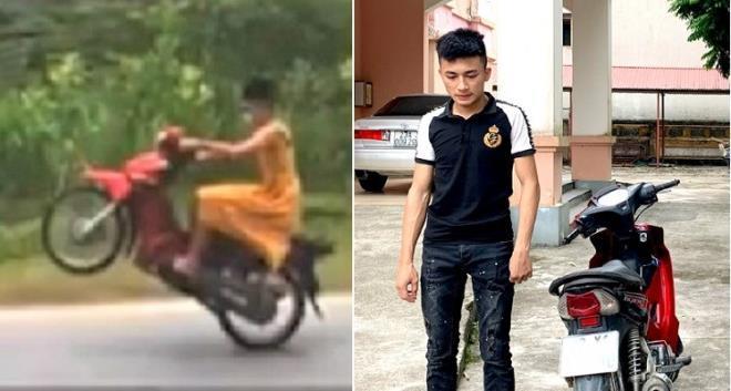 Phạt thanh niên mặc váy, bốc đầu xe đăng lên mạng để câu like