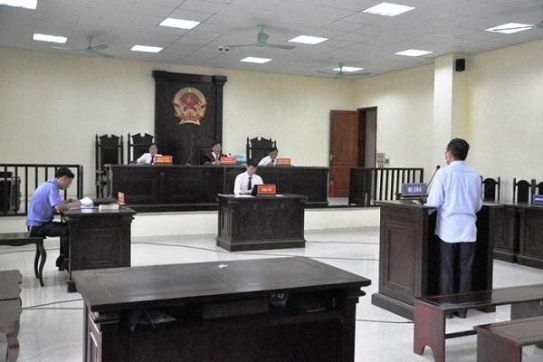 Phiên tòa sơ thẩm xét xử bị cáo Nguyễn Ngọc Đính