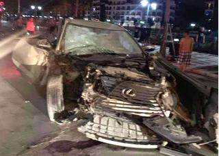 Xe sang Lexus tông liên hoàn trên phố đi bộ Hải Phòng, 1 người tử vong