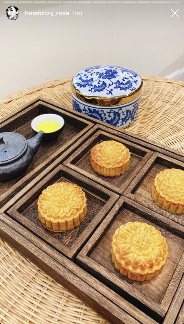 Bạn trai thiếu gia khoe ảnh Hòa Minzy đứng làm bánh khiến dân tình thích thú