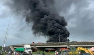 Cháy lớn tại kho xăng dầu ở Hải Phòng