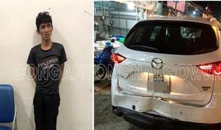 Bị CSGT truy đuổi, thanh niên trộm ô tô điên cuồng tông vào xe lực lượng chức năng