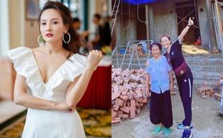 Diễn viên Bảo Thanh khoe ngôi nhà xây tặng bà ngoại sắp hoàn thành