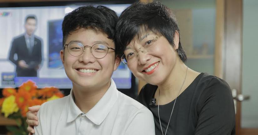 Thảo Vân và con trai