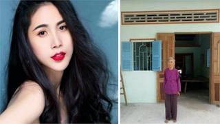 Ca sĩ Thuỷ Tiên xây nhà cho cụ bà có hoàn cảnh đặc biệt khó khăn
