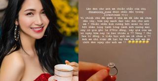 Hoà Minzy mất nhẫn kim cương 270 triệu và 'thủ phạm' nhặt được rao bán giá 'khủng'