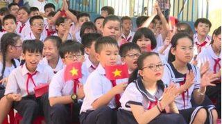 Lễ khai giảng của học sinh tiểu học Thanh Hóa được tổ chức tại lớp học