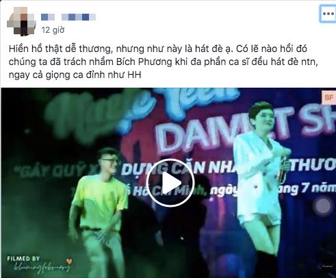 Rộ nghi vấn Hiền Hồ hát nhép trên sân khấu
