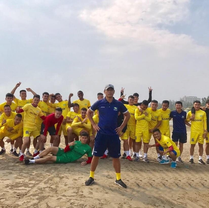 CLB SLNA tích cực tập luyện chuẩn bị cho trận gặp HAGL ở vòng 12 V.League 2020