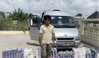 Bắt giữ tài xế chở 3.000 bao thuốc lá ngoại nhập lậu