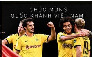 Nhiều đội bóng lớn châu Âu chúc mừng ngày Quốc khánh Việt Nam