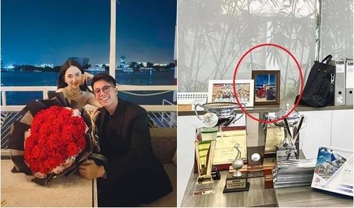Matt Liu để ảnh Hương Giang trên bàn làm việc