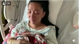 Lê Dương Bảo Lâm liên tục dỗ dành vì vợ khóc nức nở chỉ sau 1 ngày sinh