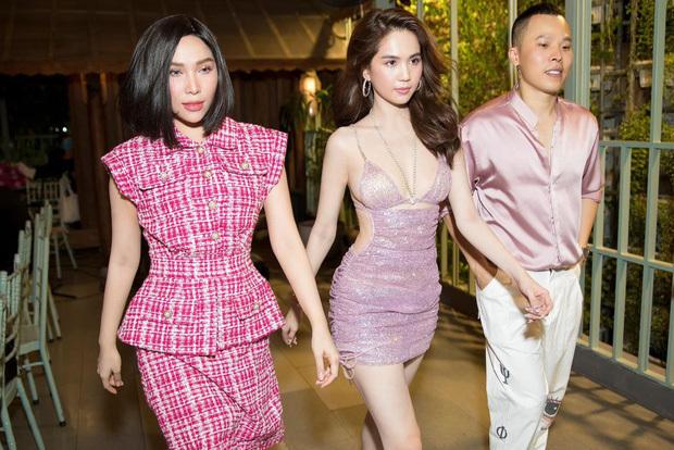 Ngọc Trinh diện đầm hở bạo trong buổi tiệc mừng 5 triệu follower