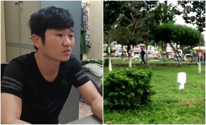 Bắt kẻ đâm chết nam thanh niên khi đang ngồi uống nước tại công viên