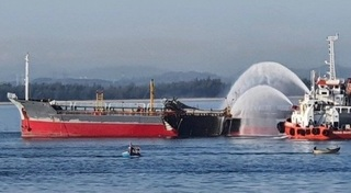 Tàu chở dầu phát nổ, 1 thuyền viên mất tích