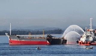 Tìm thấy thi thể thuyền viên mất tích trong vụ nổ tàu chở dầu