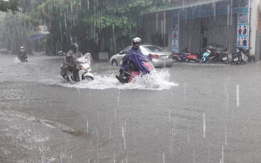 Các tỉnh trên cả nước mưa to đến rất to