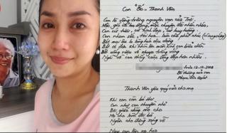 Ốc Thanh Vân nghẹn ngào khi thấy lá thư viết tay của bố