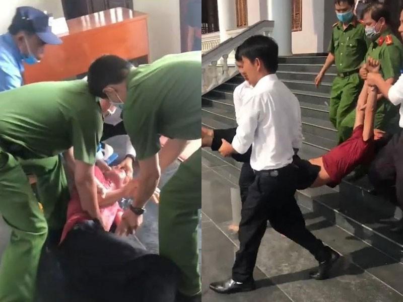 Cho thi hành án bị cáo uống thuốc trừ sâu tại tòa ở Bình Phước