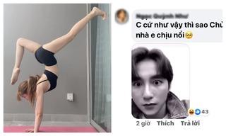 Thiều Bảo Trâm đăng ảnh động tác yoga gợi cảm, fan đồng loạt réo tên Sơn Tùng