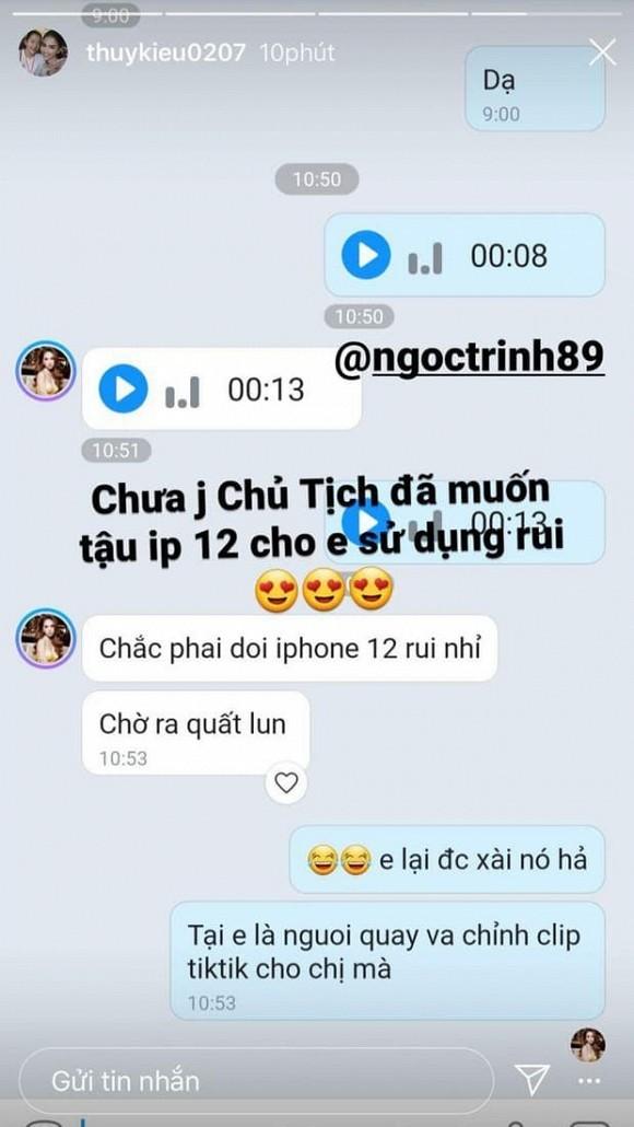 iPhone 12 chưa ra mắt mà Ngọc Trinh đã có ý định sắm cho trợ lý Thúy Kiều dùng