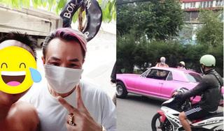 Phía Binz lên tiếng về loạt ảnh chiếc xe màu hồng bị CSGT 'hỏi thăm'