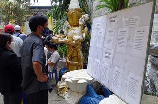 190 hũ tro cốt ở chùa Kỳ Quang II đã được gia đình nhận diện
