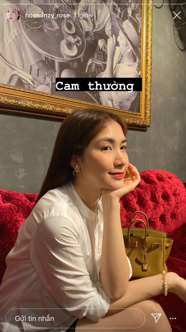 Chụp ảnh qua camera thường, Hòa Minzy còn tự tin zoom cận mặt