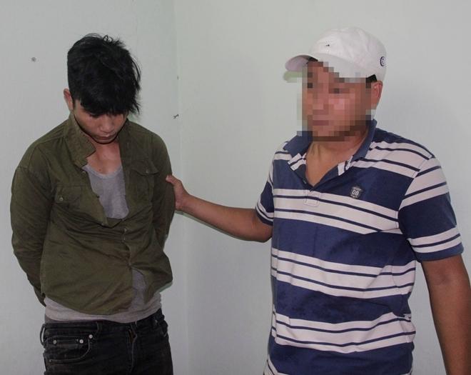 Đối tượng Lê Văn Đạo lúc bị bắt giữ.