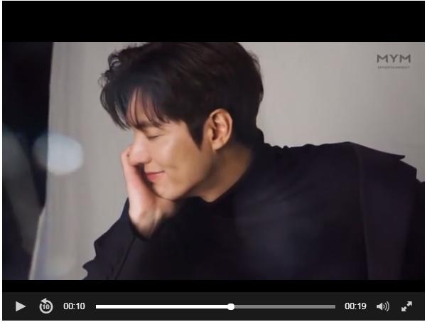 Lee Min Ho làm triệu trái tim tan chảy trong clip hậu trường quảng cáo